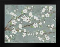 Cherry Blossoms Gray: Framed Art Print by Stimson, Diane