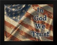 In God We Trust: Framed Art Print by Stimson, Diane