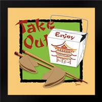 Take Out: Framed Art Print by Stimson, Diane