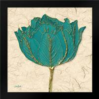 Teal Tulip: Framed Art Print by Stimson, Diane
