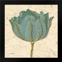 Muted Teal Tulip 1: Framed Art Print by Stimson, Diane