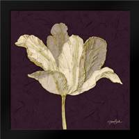 Purple Behind Tulip: Framed Art Print by Stimson, Diane