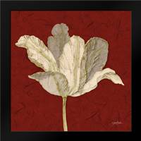 Red Behind Tulip: Framed Art Print by Stimson, Diane