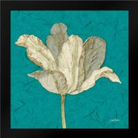 Teal Behind Tulip: Framed Art Print by Stimson, Diane
