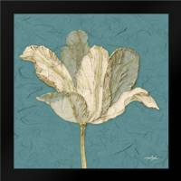 Muted Teal Behind Tulip: Framed Art Print by Stimson, Diane
