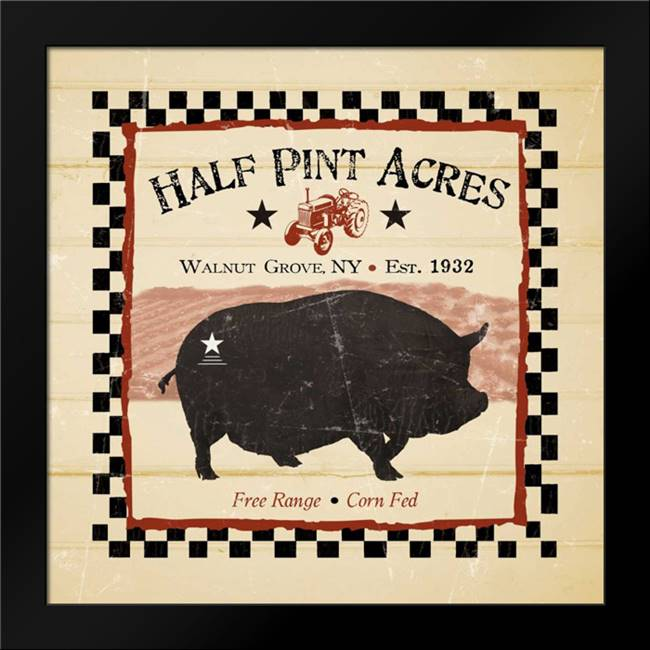 Half Pint Acres: Framed Art Print by Stimson, Diane
