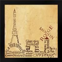 Paris Skyline Brown: Framed Art Print by Stimson, Diane