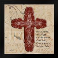 Blingy Cross 1: Framed Art Print by Stimson, Diane