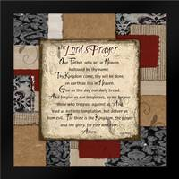 Patchwork Lords Prayer: Framed Art Print by Stimson, Diane