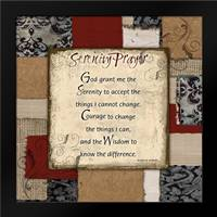 Patchwork Serenity Prayer: Framed Art Print by Stimson, Diane