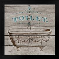Toilet: Framed Art Print by Stimson, Diane