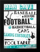 ManCave A3: Framed Art Print by Rodriquez Jr, Enrique