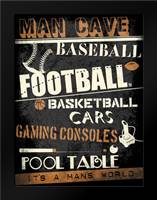 ManCave No Pong: Framed Art Print by Rodriquez Jr, Enrique