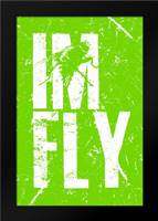 IM FLY 3: Framed Art Print by Rodriquez Jr, Enrique