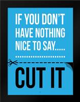 Cut It D: Framed Art Print by Rodriquez Jr, Enrique