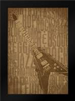 Guitars Type B: Framed Art Print by Rodriquez Jr, Enrique