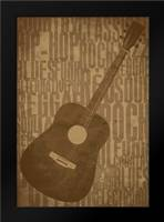 Guitars Type C: Framed Art Print by Rodriquez Jr, Enrique