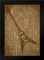 Guitars Type D: Framed Art Print by Rodriquez Jr, Enrique