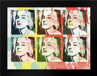 Monroe Painted A2: Framed Art Print by Rodriquez Jr, Enrique