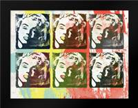 Monroe Painted B2: Framed Art Print by Rodriquez Jr, Enrique