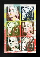 Monroe Painted C: Framed Art Print by Rodriquez Jr, Enrique