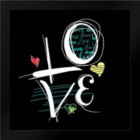 Love Hope B: Framed Art Print by Rodriquez Jr, Enrique