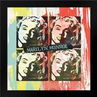 Monroe Painted G: Framed Art Print by Rodriquez Jr, Enrique