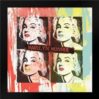 Monroe Painted H: Framed Art Print by Rodriquez Jr, Enrique