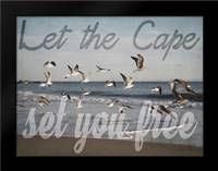 Cape Be Free: Framed Art Print by Urquhart, Elizabeth