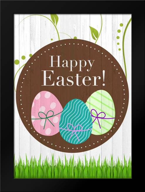 Happy Easter: Framed Art Print by Allen, Kimberly