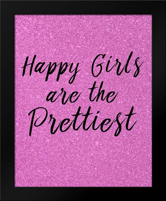 Happy Girls Pink: Framed Art Print by Allen, Kimberly