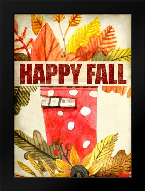 Happy Fall: Framed Art Print by Allen, Kimberly