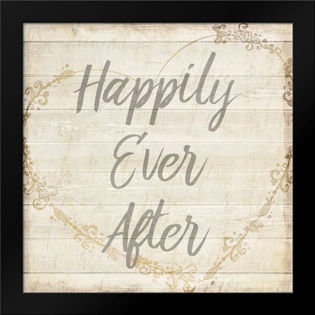 Happily Ever After Grey: Framed Art Print by Allen, Kimberly