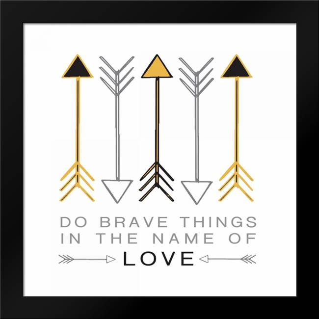 Do Brave Things: Framed Art Print by Hogan, Melody