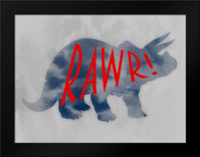 Dino Rawr: Framed Art Print by Prime, Marcus