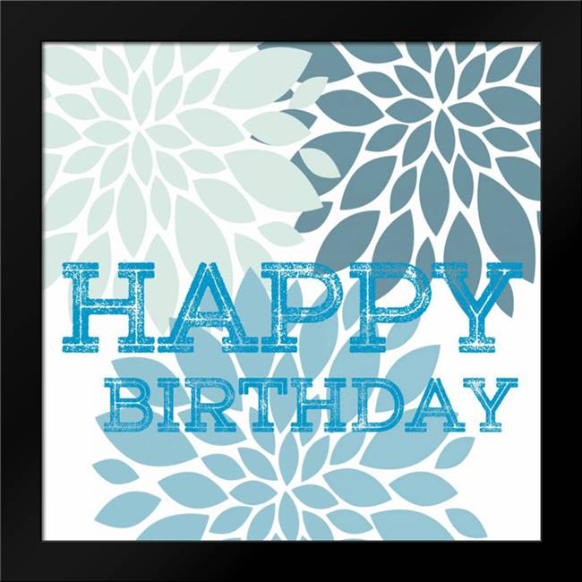 Happy Birthday: Framed Art Print by Lewis, Sheldon