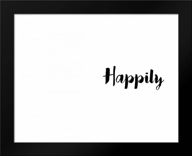 Happily Ever: Framed Art Print by CAD Designs