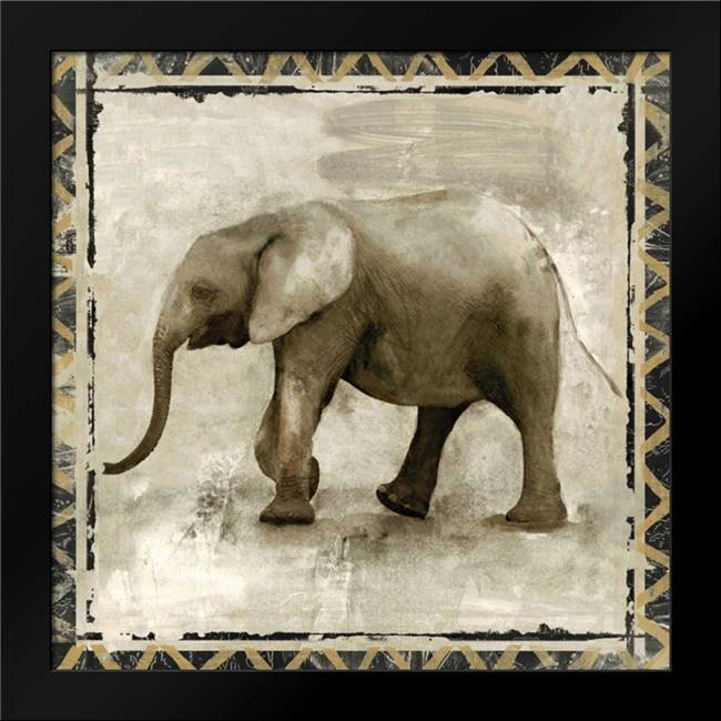 Happy Elephant: Framed Art Print by Woodey, Michelle