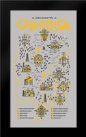 True Detective Map: Framed Art Print by Farkas, Robert