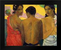 Three Tahitians: Framed Art Print by Gauguin, Paul