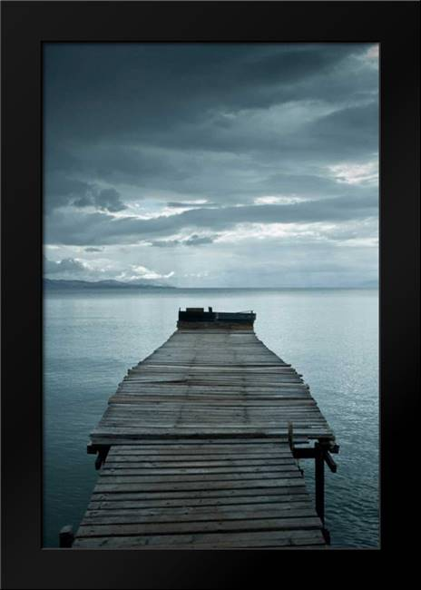 Dock 1: Framed Art Print by PhotoINC Studio