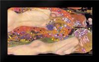 Water Serpents II: Framed Art Print by Klimt, Gustav