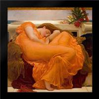 Leighton, Frederic: Framed Art Print by Flaming June