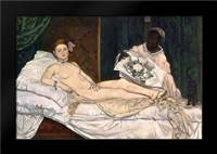 Manet, Edouard: Framed Art Print by Olympia