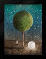 Tappy and the Moon: Framed Art Print by Noblin, Greg