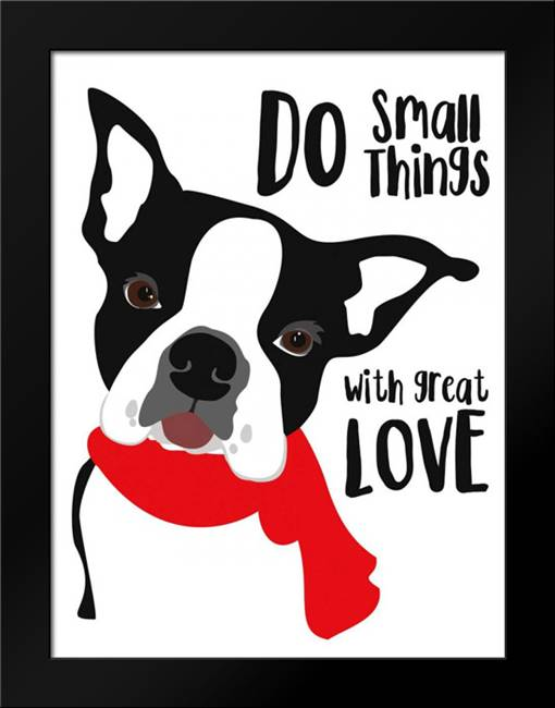 Do Small Things with Great Love: Framed Art Print by Oliphant, Ginger