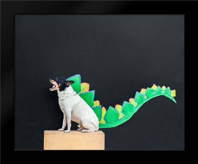 Dino Dog: Framed Art Print by Sabo, Susan