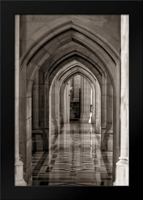 Hallway Reflections: Framed Art Print by Mansfield, Kathy
