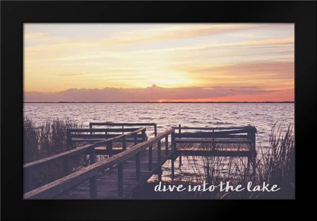 Dive Into The Lake: Framed Art Print by Nawrocke, Bruce