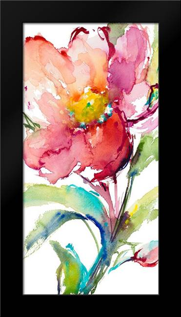 Happy Blooms II: Framed Art Print by Loreth, Lanie